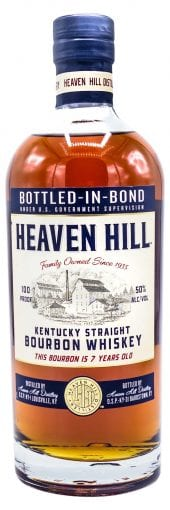Heaven Hill Bourbon Whiskey 7 Year Old, Bottled in Bond 750ml